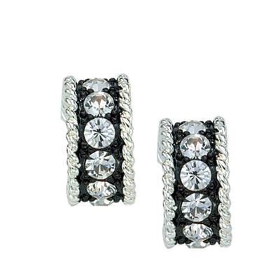 Montana Silversmiths's Crystal Shine 3 Ring Earrings