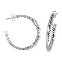 Montana Silversmiths's Twisted Rope Hoop Earrings