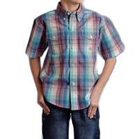 Roper Boy's Solar Plaid Button Down Shirt
