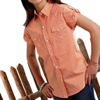 Roper Girl's Oval Print Button Down Shirt