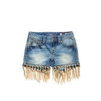 Miss Me Girls Fringe Shorts
