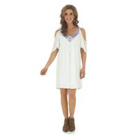 Wrangler Women's Cold Shoulder Half Sleeve Dress