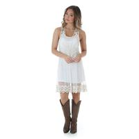 Wrangler Women's Sleeveless White Lace Dress
