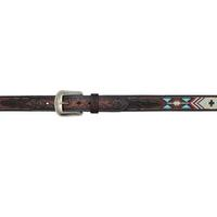 3D Men's Brown Southwest Multi Beaded Cowboy belt