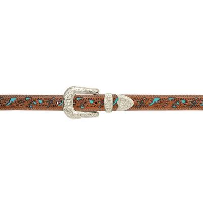 3D Ladies Natural Floral Turquoise Belt
