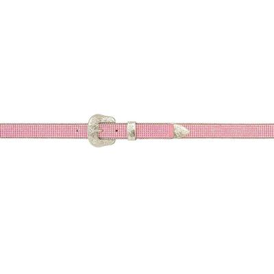 3d Girls Angel Ranch Pink Crystal Mesh Belt