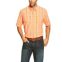 Ariat Men's Orange Plaid Venttek Performance Shirt