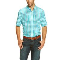 Ariat Men's Bright Blue Plaid Venttek Shirt