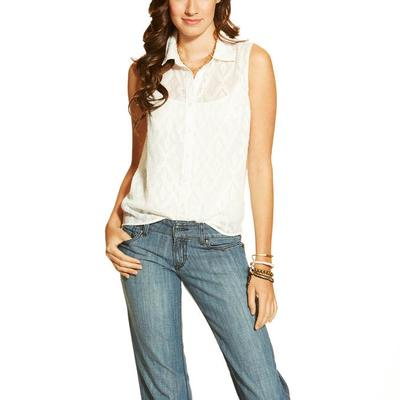 Ariat Women's Iwer Sleevless Button- Up Shirt
