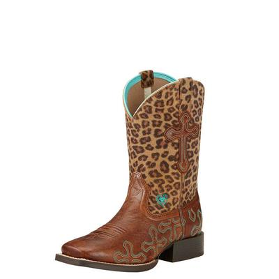 Ariat Girl's Crossroads Cheetah Boots