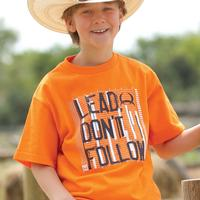 Cinch Boys Orange Lead Don't Follow Tee