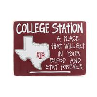 Texas A&M Map Sign