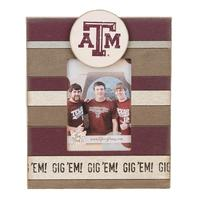 Texas A&M Vintage Striped Frame
