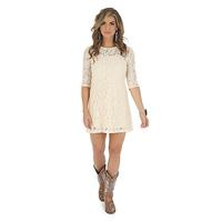 Wrangler Women's 3/4 Sleeve Crochet Dress