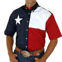 Roper Men's Texas Flag Shirt