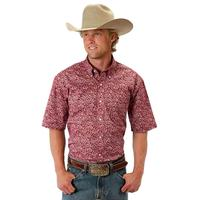 Roper Men's Short Sleeve Amarillo Allover Print Shirt