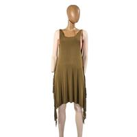 POL Ladies Open Back Side Fringe Shift Dress
