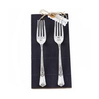 Mud Pie Wedding Fork Set