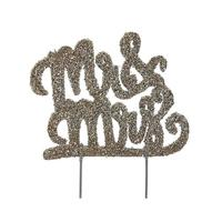 Mud Pie Mr. and Mrs. Cake Sign