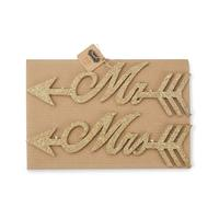Mud Pie Mr. and Mrs. Glitter Hangers