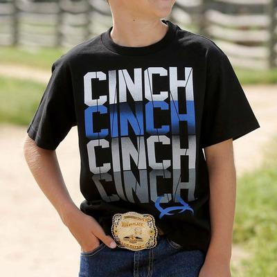 Cinch Boy's Black Logo T- Shirt
