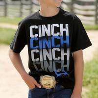 Cinch Boy's Black Logo T-Shirt