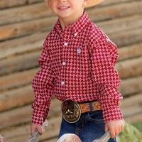 Cinch Toddler's Red Print Shirt