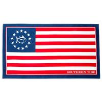 Southern Tide Grand Ole Flag Beach Towel