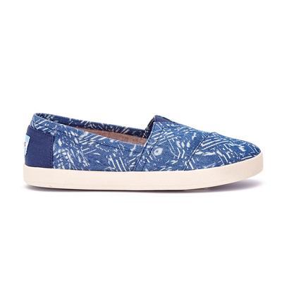 Toms Women's Blue Batik Ava Slip-on Shoes