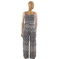 Angie Women's Black and White Print Jumpsuit