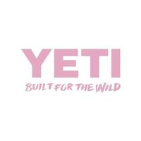 Yeti Built for the Wild Pink Decal
