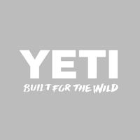 Yeti Built for the Wild White Decal