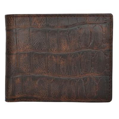 3d Rum And Cognac Alligator Bifold Wallet