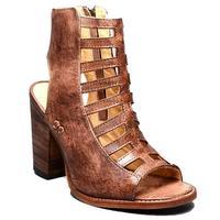 Bedstu Women's Occam Peeptoe Teak Driftwood Sandals