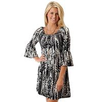 Roper Women's Black and White Feather Dress