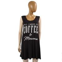 Tres Bien Women's Coffee and Mascara Dress