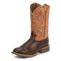 Tony Lama Men's 3R Orange Cognac Crockett Boots
