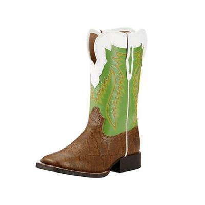 Ariat Youth Buscadero Tan Elephant Print Boots