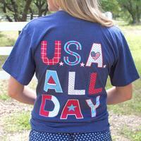 Jadelynn Brooke Women's USA All Day T-Shirt