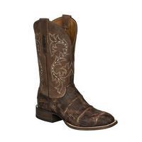 Lucchese Men's Malcom Chocolate Alligator Boots