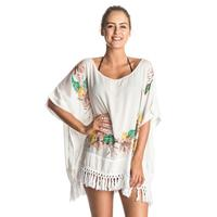 Roxy Women's Embroidery Stamp Poncho
