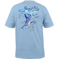 Salt Life Men's Striped Up Pocket T-Shirt