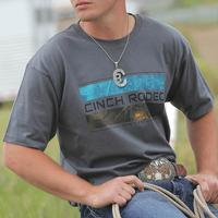Cinch Men's Grey Rodeo Print T-Shirt