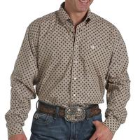 Cinch Men's Long Sleeve Diamond Pattern Shirt