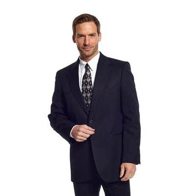 Cripple Creek Men's Big and Tall Black Abilene Sportcoat