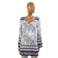 Blu Pepper Women's Paisley Tunic Dress