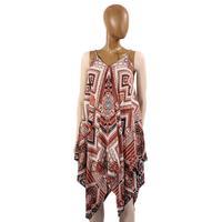 Blu Pepper Women's Geometric Handkerchief Dress