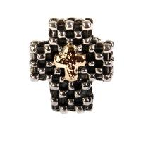 Dian Malouf Women's Checkered Cross Ring