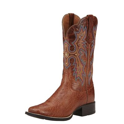 Ariat Men's Smooth Quill Ostrich Tombstone Boots