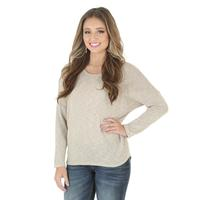 Wrangler Women's Sweater with Multicolor Crochet